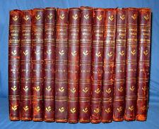 Robert Burns 1908 Complete Works 12 Vol Set Binding Antique Woodcuts Illustrated