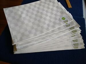 NWT,  Lot of 12  Food Network Stain Resistant Microfiber Placemat Set