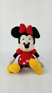 "Kohls Cares Disney 14"" Minnie Mouse Plush Toy Red Polka Dot Dress VGUC"