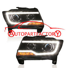 HID Headlight with LED DRL Bi-xenon Projector For 2011-2013 Jeep Compass Lamps