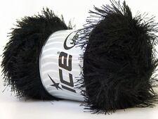 LG 100 gram Black Eyelash Yarn Ice Fun Fur 164 Yards 22697