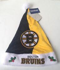 Boston Bruins 2017 NHL Plush Christmas Santa Hat embroidered logo NEW