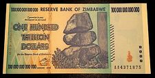 ! Zimbabwe $100 trillion banknote uncirculated MINT CONDITION paper money US !