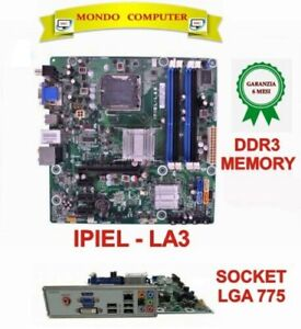 SCHEDA MADRE SOCKET LGA 775  HP / ASUS  IPIEL-LA3 + BACK PANEL