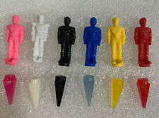 """1993 Mmpr Power Rangers Thunder Megazord 1"""" Figures And Crystals"""