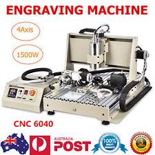 1.5KW 4AXIS 6040 CNC Router 3D Engraver Milling Drilling Machine DESKTOP  VFD AU