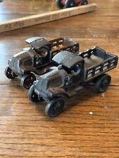 2 Repro Iron Art Cast Iron Mack Trucks