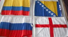 Any 2 x World Cup Car Flags FOOTBALL-32 Countries-Colombia,Russia,England,Bosnia
