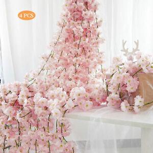 DEKO Kirschzweig Kirschbl/ütenzweig Kunstblume Kunststoffblume Dekozweig 105 cm gro/ß