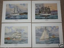 Set of 4 Ltd Ed Signed Prints by COLIN GIBSON - Belfast Tall Ships Race, Ireland
