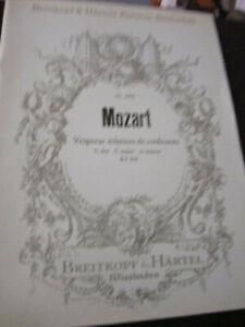 Orchester-Sopran-Orgel-Noten-Partitur-Mozart-Vesperae solennes de confessore