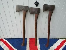 ANTIQUE VINTAGE FORESTERS WOOD AND METAL AXES MAN CAVE SHED GARDEN DECORATION