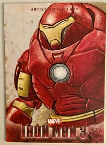 2013 Marvel Upper Deck Iron Man 3 Chad Haverland Sketch Card IRON MAN