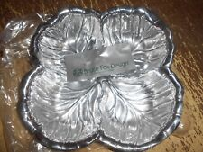 New Old Stock Wilton Bruce Fox Designs Armetale Chip & Dip Leaf Design Bowl