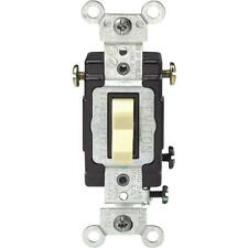 5 Pk Leviton Ivory 15A 120V Illuminated 3-Way Toggle Light Switch C21-05503-Lhi