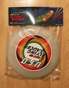 Vintage Frisbee - 1988 - UFO Light Up Flying Saucer - Lights up - Glows in dark