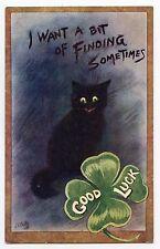 GOOD LUCK . Chat Noir .Black Cat . Katze . Gato . 猫 . OILETTE