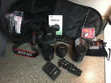 Canon EOS 60D 18.0MP Digital SLR Camera, Lenses and extras!!!! (BUNDLE)