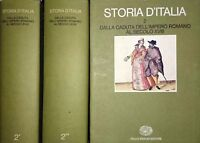 Storia d'Italia. II Dalla caduta dell'Impero romano al secolo XVIII EINAUDI 1974