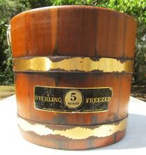 Vintage STERLING FREEZER Wood Cedar Bucket ONLY 5 Quart Ice Cream Maker Part VA