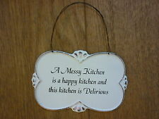 Shabby Chic Kitchen Signs : French country shabby chic decorative plaques & signs ebay