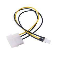 3x 4-Pin Molex/IDE to 3-Pin CPU/Case Fan Power Connector Cable Adapter 20cm