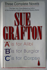 3 Kinsey Millhone Mysteries by Sue Grafton HC/DJ 3-in-1: Alibi, Burglar, Corpse