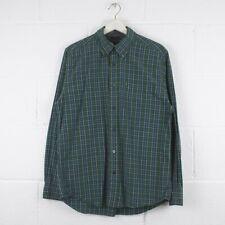 Vintage TOMMY HILFIGER Green Check Cotton Shirt Size Mens Medium