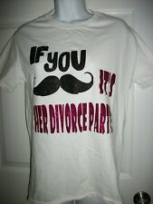 It's Her Divorce Party Women's White Tee T-Shirt Size S