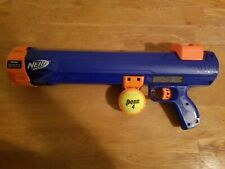 Nerf Dog Tennis Ball Launcher. Blue 20 inch Launcher and 1 Tennis Ball Included.