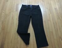 """NYDJ Not Your Daughters Jeans Marilyn Straight Size 14 X 26.5"""" Black Corduroy"""