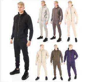 Casualking® New Men's Zip up Hooded Fleece Track suit Top Zipper  Jumper S-XXL