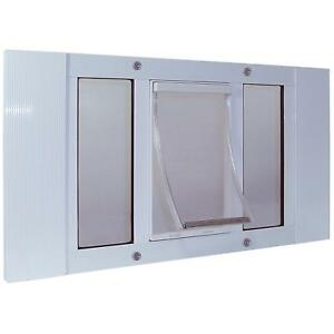 "Ideal Perfect Pet Aluminum Sash Window Cat Flap Door Small White 23"" - 28"""