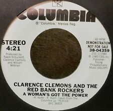 Clarence Clemons & Red Bank Rockers ~A Woman's Got The Power~ PROMO ~ VINYL 45
