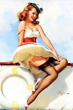 Pin-up Skipper Gil Elvgren High Quality Metal Magnet 2.7x4 inches 9653