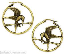 Hunger Games Mockingjay & Arrow Metal Hoop Earrings Katniss Peeta Cosplay New