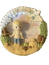 Precious Moments limited edition Footprints In The Sand Sam Butcher Plaque D3550