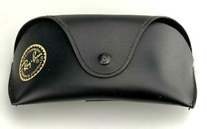 Ray-Ban Sunglasses Case Black Faux Leather Softcase Medium-Large