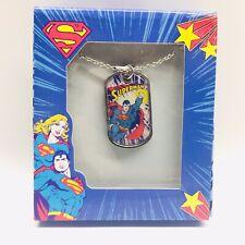 "Dc Comics Superman Pendant Necklace w/ 16"" Chain. Brand New. Jacmel Jewelry Inc"