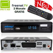 DVB-T2 HD Receiver Freenet mit SCART & HDMI Empfänger 1080p Full HD 12V NEU