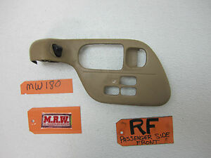 93 INFINITI Q45 RIGHT FRONT DOOR PANEL BEZEL TRIM POWER SEAT SWITCH PANEL COVER