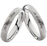 Trauringe Verlobungsringe Eheringe Hochzeitsringe mit Ringe Lasergravur Z003