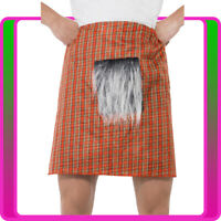 Adult Red Tartan Kilt Sporran Scottish Highlander Skirt Dress Costume Accessory