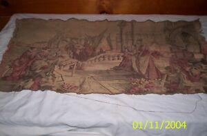 Vintage Tapestry made in ITALY- Middle Eastern Scene 18 X 34 Inches