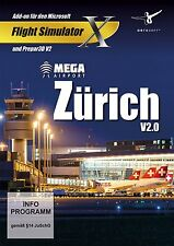 Mega aeropuerto de Zúrich 2.0 - complemento para Microsoft Flight Simulator X (Pc-dvd) Nuevo