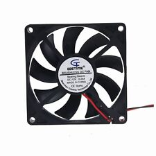 12V 8cm 80mm 80x80x15mm Brushless PC CPU Computer Case Cooling Fan 2pin 2510