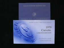 FRANKLIN MINT PAPERWORK SET - 1970 CORVETTE LIMITED EDITION OF 9900