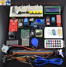 New UNO R3 ARDUINO RFID Master Kit + Motor Servo LCD Module For Arduino Learn