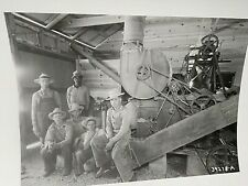 1939 Workers Using John Deere Machinery in Grain Warehouse Photo w/ Black Worker
