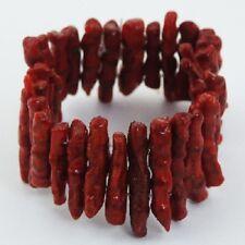 fashion bracelet handcrafted jewellery red sponge coral stretch trendy jewelry